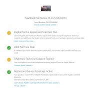 Macbook Pro 15.10